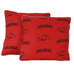College Covers Arkansas Razorbacks 16' Decorative Pillow Set