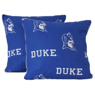 """College Covers Duke Blue Devils 16"""" Decorative Pillow Set"""