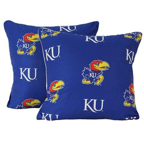 "College Covers Kansas Jayhawks 16"" Decorative Pillow Set"