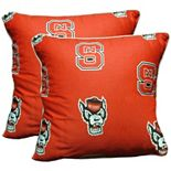 "College Covers North Carolina State Wolfpack 16"" Decorative Pillow Set"