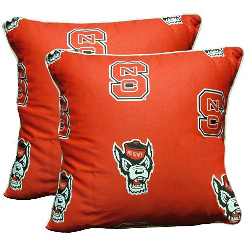 """College Covers North Carolina State Wolfpack 16"""" Decorative Pillow Set"""