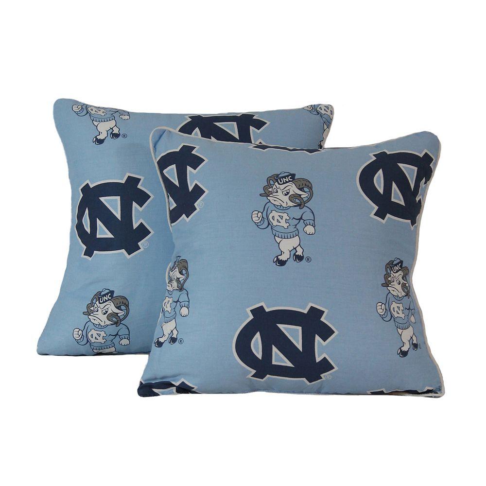 "College Covers North Carolina Tar Heels 16"" Decorative Pillow Set"