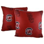 "College Covers South Carolina Gamecocks 16"" Decorative Pillow Set"