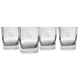 Cathy's Concepts 4-pc. Monogram Rocks Glass Set
