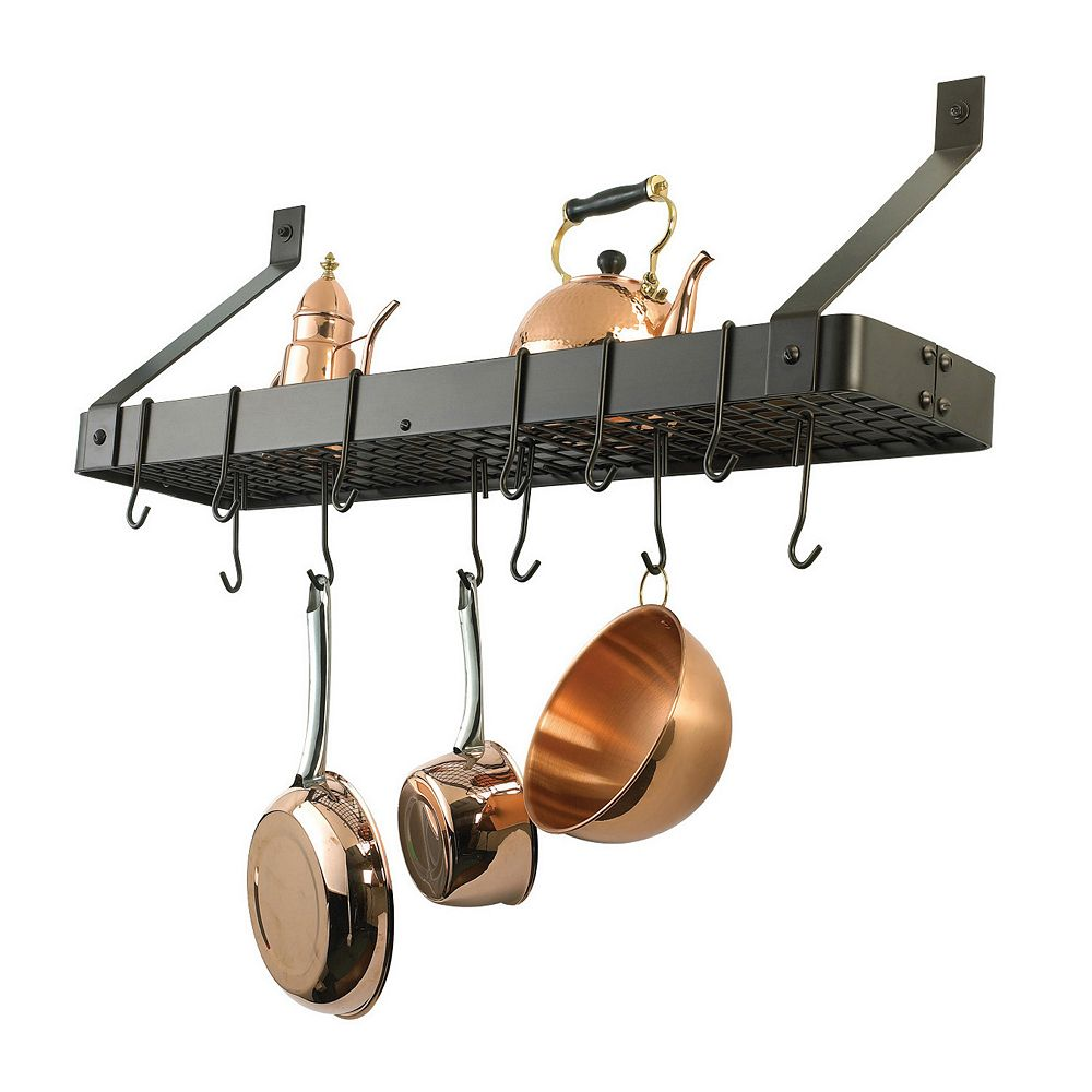 Old Dutch Oiled Bronze Bookshelf Pot Rack