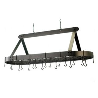 Old Dutch Oversized Oiled Bronze Hanging Oval Pot Rack