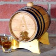 Cathy's Concepts Monogram Bluegrass Whiskey Barrel - Small