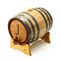 Cathy's Concepts Monogram Bluegrass Whiskey Barrel - Large