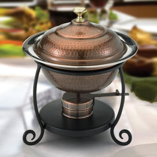 Old Dutch 1.75-qt. Covered Round Antique Copper Chafing Dish
