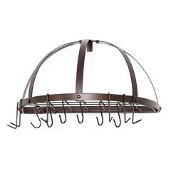 Old Dutch Oiled Bronze Half-Round Pot Rack