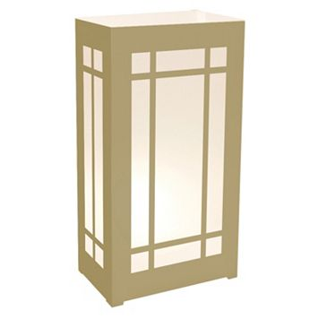 LumaBase 12-pk. Lantern Plastic Luminaria Lanterns - Indoor & Outdoor