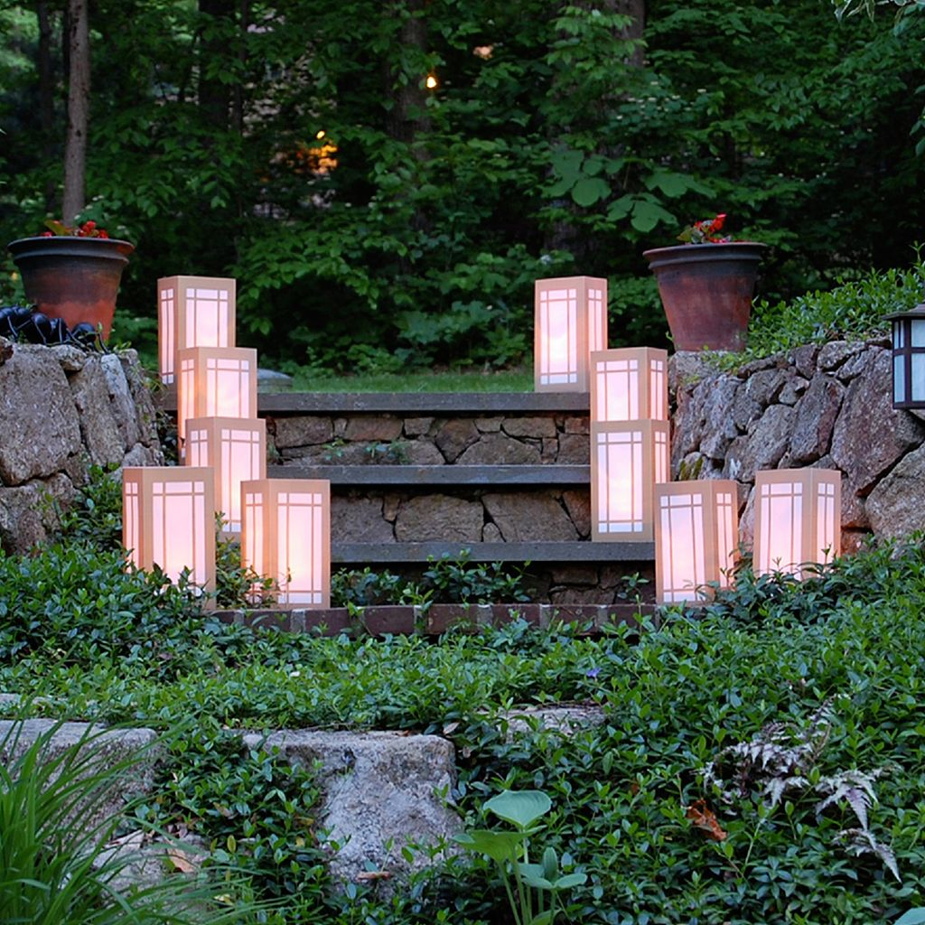 LumaBase 12-pk. Lantern Plastic Luminaria Lanterns - Indoor and Outdoor