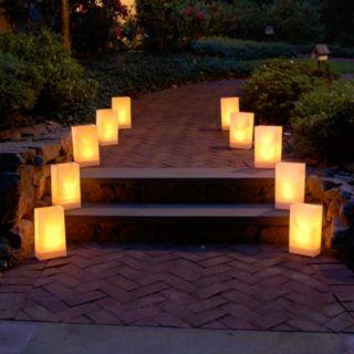 LumaBase 12-pk. Plastic Luminaria Lanterns - Indoor and Outdoor