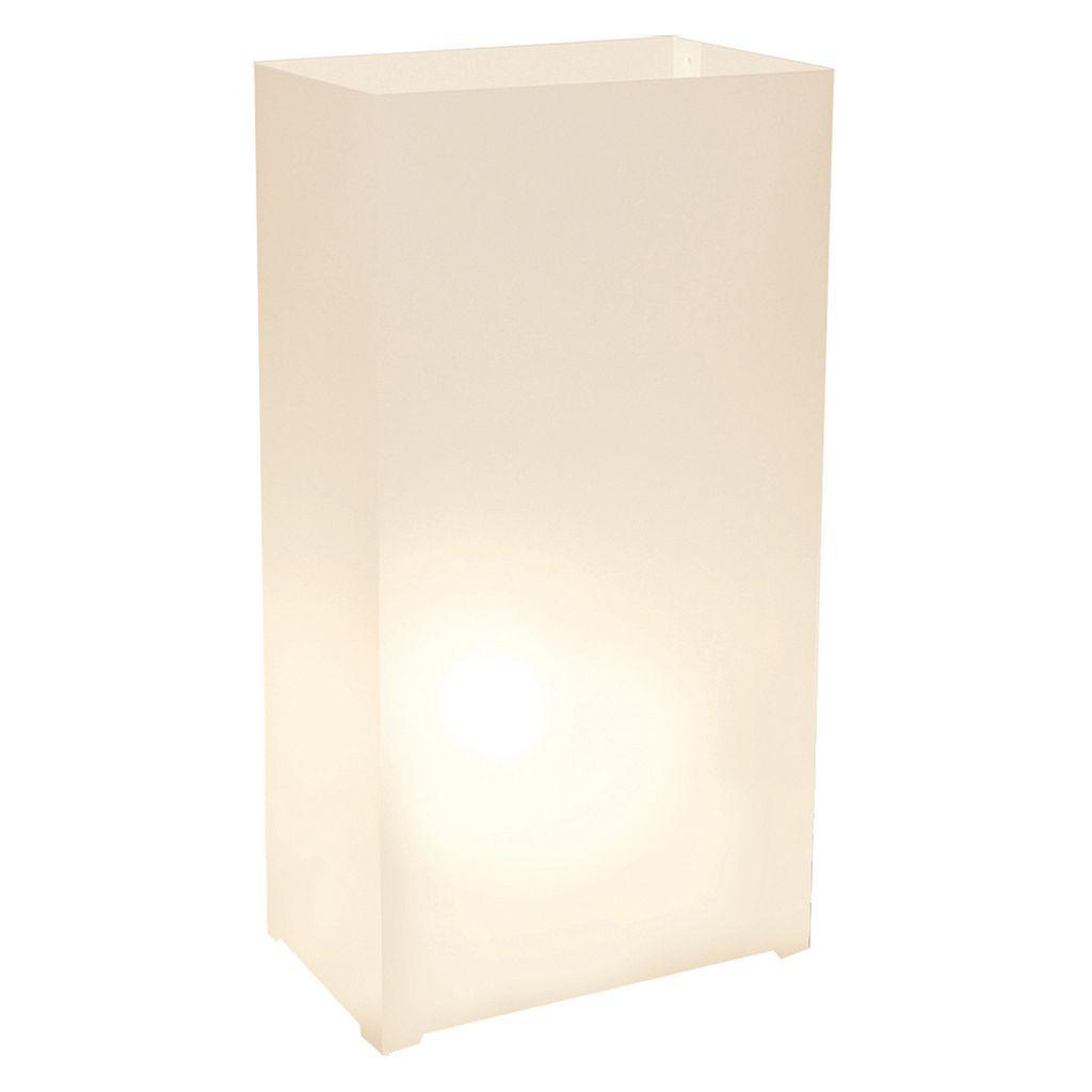 LumaBase 12-pk. Plastic Luminaria Lanterns - Indoor & Outdoor