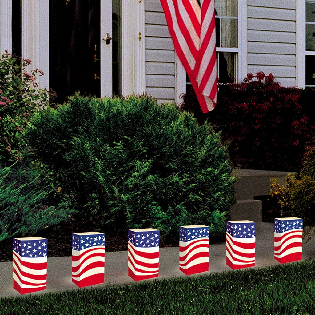 LumaBase 24-pk. Americana Paper Luminaria Bags - Indoor and Outdoor