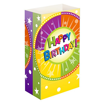 LumaBase 24-pk. Happy Birthday Paper Luminaria Bags - Indoor and Outdoor