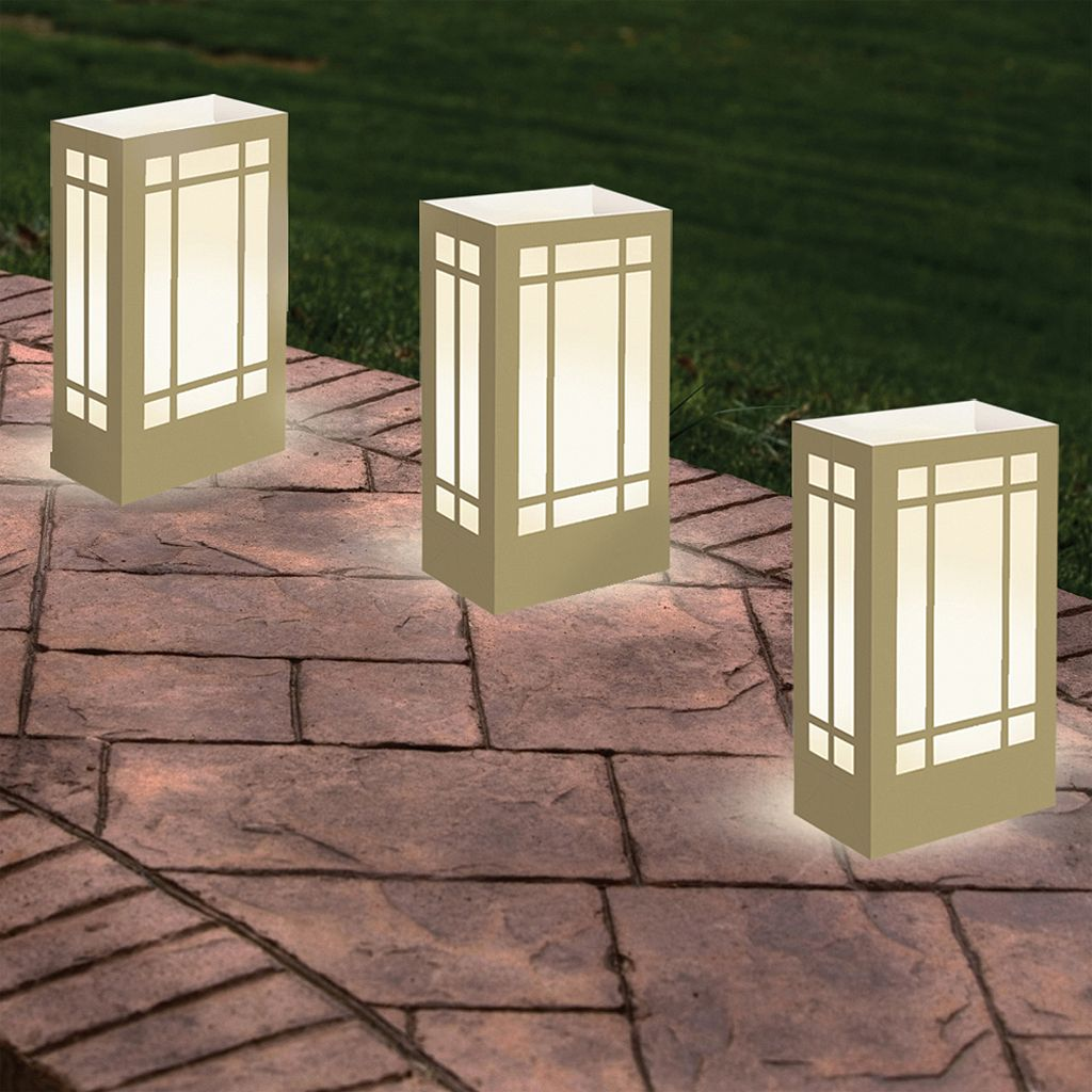 LumaBase Indoor / Outdoor Timer Lantern Luminaria Bag & LumaLite 6-piece Set