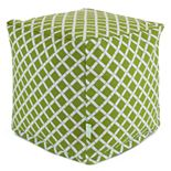 Majestic Home Goods Geometric Indoor Outdoor Small Cube Ottoman