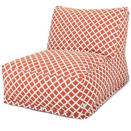 Majestic Home Goods Geometric Indoor Outdoor Beanbag Chair Lounger