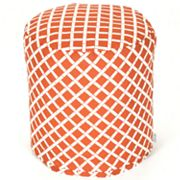 Majestic Home Goods Geometric Indoor Outdoor Small Pouf