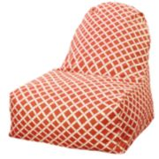 Majestic Home Goods Geometric Indoor Outdoor Kick-It Chair