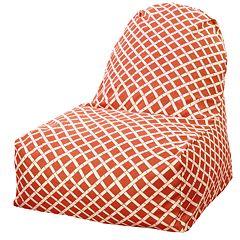 Majestic Home Goods Geometric Indoor Outdoor Kick-It Chair