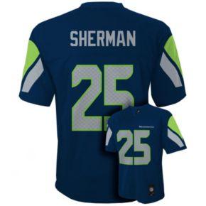 Boys 8-20 Seattle Seahawks Richard Sherman NFL Replica Jersey