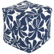 Majestic Home Goods Plantation Indoor Outdoor Small Cube Ottoman