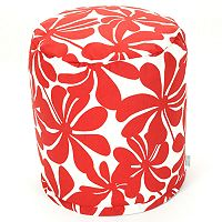 Majestic Home Goods Plantation Indoor Outdoor Small Pouf