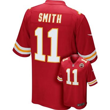Men's Nike Kansas City Chiefs Alex Smith Game NFL Replica Jersey
