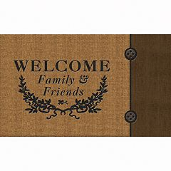 Apache Mills Masterpiece Welcome Crest Doormat - 18'' x 30''