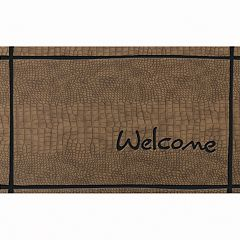 Apache Mills Masterpiece 'Welcome' Crocodile Doormat - 18'' x 30''