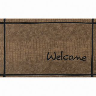 Apache Mills Masterpiece Welcome Crocodile Doormat - 18'' x 30''