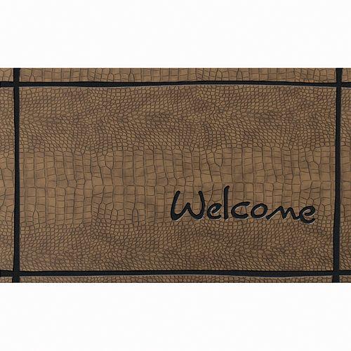"""Apache Mills Masterpiece """"Welcome"""" Crocodile Doormat - 18'' x 30''"""