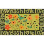 "Apache Mills Masterpiece ""Live Laugh Love"" Floral Doormat - 18'' x 30''"
