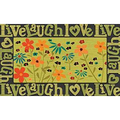 Apache Mills Masterpiece 'Live Laugh Love' Floral Doormat - 18'' x 30''