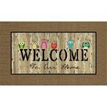 "Apache Mills Masterpiece ""Welcome"" Owls Doormat - 18'' x 30''"