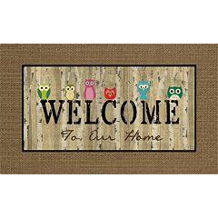Apache Mills Masterpiece 'Welcome' Owls Doormat - 18'' x 30''