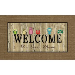 Apache Mills Masterpiece Welcome Owls Doormat - 18'' x 30''