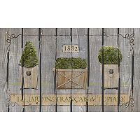 Apache Mills Masterpiece French Garden Topiaries Doormat - 18'' x 30''
