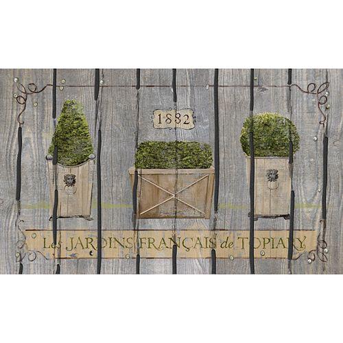 Apache Mills Masterpiece French Garden Topiaries Doormat - 18'' x 30''