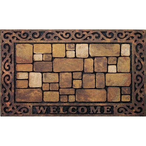 """Apache Mills Masterpiece Aberdeen """"Welcome"""" Doormat - 18'' x 30''"""