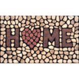 """Apache Mills Masterpiece """"Home"""" Stone Doormat - 18'' x 30''"""