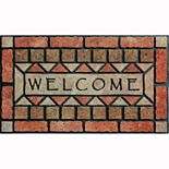 "Apache Mills Masterpiece ""Welcome"" Stones Doormat - 18'' x 30''"