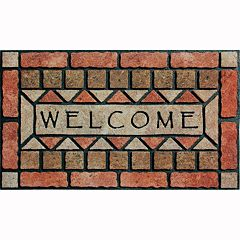 Apache Mills Masterpiece 'Welcome' Stones Doormat - 18'' x 30''