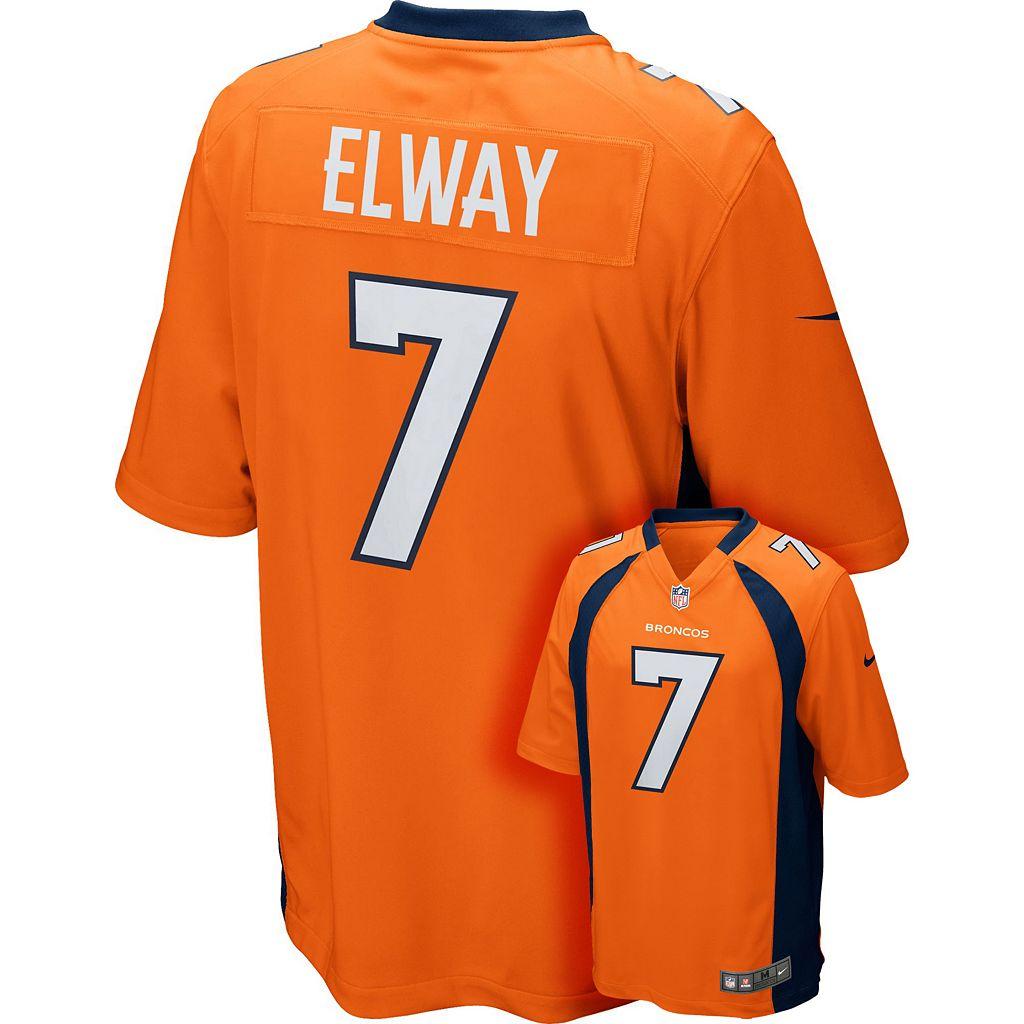 Men's Nike Denver Broncos John Elway Game NFL Replica Jersey