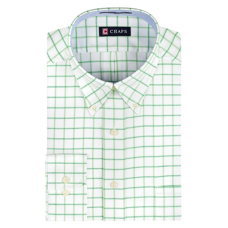 Chaps Classic-Fit Checked Dress Shirt - Men