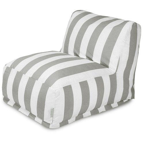 Majestic Home GoodsStripedIndoor Outdoor Beanbag Chair Lounger