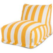 Majestic Home Goods Striped Indoor Outdoor Beanbag Chair Lounger