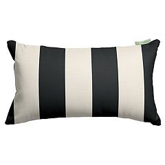 Majestic Home Goods Striped Indoor Outdoor Small Decorative Pillow